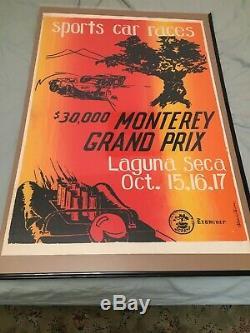 1965 Monterey Grand Prix Laguna Seca Raceway Races Original Poster / Print