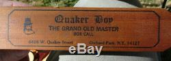 1982 Signed Dated By Dick Kirby Quaker Boy The Grand Old Master Turkey Box Call
