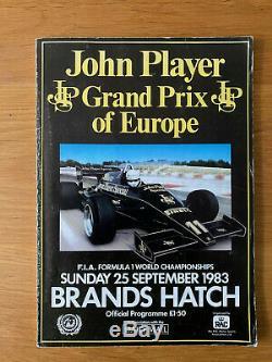 1983 European Grand Prix Brands Programme SIGNED By 23 Alboreto, De Angelis, Lauda
