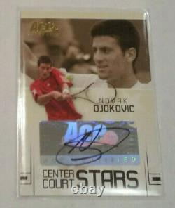 2006 ACE Authentic Grand Slam Novak Djokovic Rookie RC Auto Signed Autograph