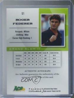 2008 Ace Authentic Grand Slam II Stars Bronze Roger Federer #S1 Auto