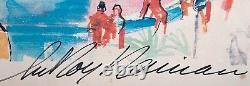 8546 Leroy Neiman Triple Signed Framed Print Monaco Grand Prix Pencil 36 x 30