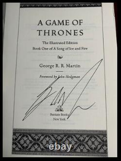 A Game Of Thrones ALL SIGNED by GEORGE RR MARTIN New 3 Vol. Deluxe Hardback Set