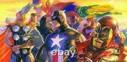 Alex Ross SIGNED Invincible Deluxe Giclee on Canvas Limited Edition of 100