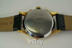 Angelus Chronodato Calendar Chronograph Signed Grand Rex Gold Filled C. 1950's