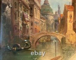 Antique Italian painting Venetian grand tour O/C signed