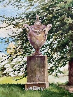 Antique Signed Watercolour Grand Duchess Olga Romanov Imperial Russia Hvidore