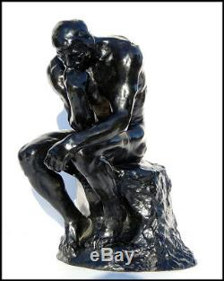Auguste Rodin Rare The Thinker Bronze Sculpture Le Grand Penseur Signed Artwork