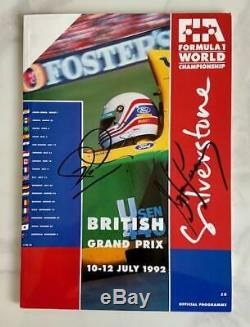 Ayrton Senna & Nigel Mansell signed 1992 Grand Prix programme Formula One AFTAL