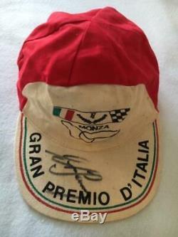 Ayrton Senna signed Italian Grand Prix Cap'MONZA' AFTAL