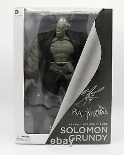 Batman Arkham City Solomon Grundy Deluxe Action Figure Signed By Character Desig