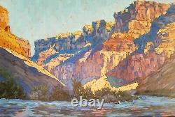 California Artist REY. Fine Oil Painting Grand Canyon Landscape Plein Air Signed