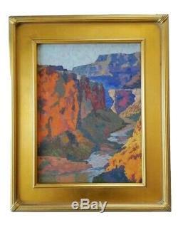 California Artist REY. Oil Painting Grand Canyon Southwest Landscape Plein Air