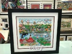 Charles Fazzino 3D Artwork Sun Day in San Diego Signed & Numbered Deluxe Ed