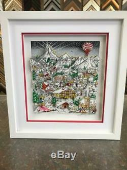 Charles Fazzino Ski, Skate, Snow. Spectacular 3-D Art Signed & Number Deluxe