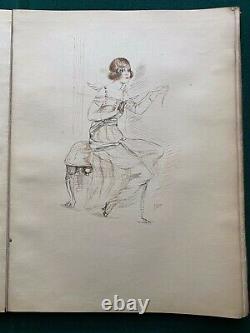 Count Michael de Torby Son of Grand Duke Michael Romanov Pen Ink Drawing Album