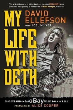 DAVID ELLEFSON My Life with Deth SIGNED book with deluxe leather Box MEGADETH