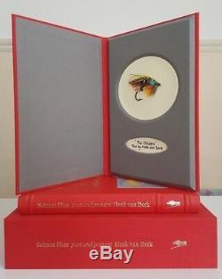 Deluxe leatherbound Salmon Flies Past & Present Henk van Bork fly fishing book