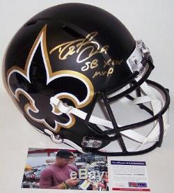 Drew Brees Signed Riddell Saints Amp Speed Full Size Deluxe Helmet Sb 44 Mvp Psa