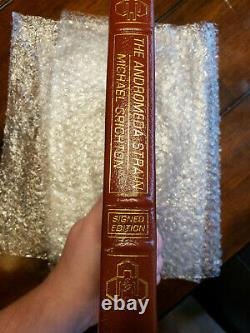 Easton Press Andromeda Strain Signed Deluxe Limited Michael Crichton