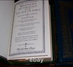 Easton Press Deluxe Limited Ed. BULFINCH'S MYTHOLOGY 3 vols CHIVALRY CHARLEMAGNE