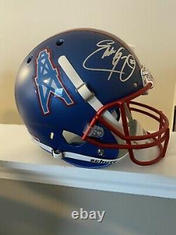 Eddie George Autographed Signed Houston Oilers (Throwback) Deluxe Full-Size Repl