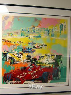 F1 1981 GRAND PRIX CAESAR'S PALACE SERIGRAPH LEROY NEIMAN Gilles Villeneuve