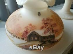 Fenton Limited Edition Aladdin Grand Vertique Lamp Hand Painted by Sue Jackson