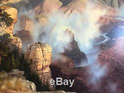 Fred Lucas Arizona THE GRAND VIEW Grand Canyon Breathtaking Oil On Canvas