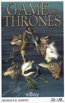 GAME OF THRONES VZA 1,2,3+4 + signed Artprint`s GEORGE R. MARTIN lim. 99 Ex DELUXE