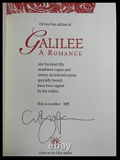 Galilee SIGNED by CLIVE BARKER Mint Deluxe Limited Edition Cloth Hardback 1/150
