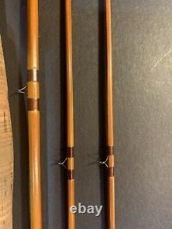 Gene Edwards De Luxe Autographed Fly Rod 8 1/2 ft, 5 1/4 oz, 3 piece withextra tip