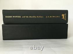 Harry Potter And The Deathly Hallows Deluxe 1st First Edition Signed