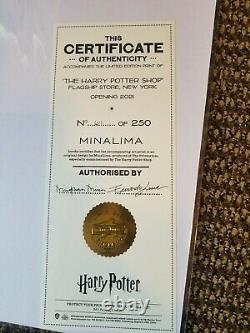 Harry Potter New York GRAND OPENING Signed Minalima PRINT Limited Edition 61/250