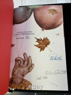 It 25th Anniversary Special Limited Edition SIGNED Stephen King Deluxe Traycased