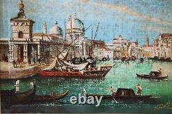 Italian Artist D. Colli Antique oil painting on canvas, Italy, Venice, Grand Canal