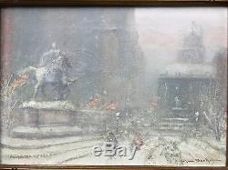 Johann Berthelsen Original Grand Army Plaza, Plaza Hotel Painting, New York City