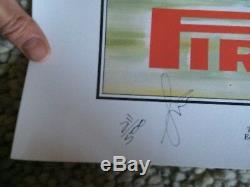 Juan Manuel Fangio Signed Print Genuine Autograph F1 World Champion Grand Prix