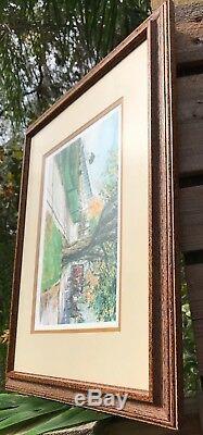 Kathleen Chaney Fritz Signed #ed Mackinac Island Grand Hotel Framed Art Print