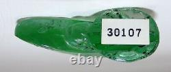 LALIQUE FRANCE CRYSTAL ART GLASS Grand Nacre BUTTERFLY LIGHT GREEN ENAMEL #3