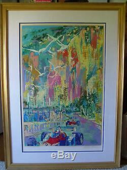 LeRoy Neiman Grand Prix de Monaco Framed Serigraph Artist's Proof 36 x 24