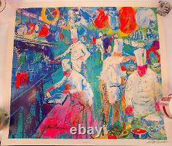 LeRoy Neiman LA GRAND CUISINE Art Hand Signed Lithograph print