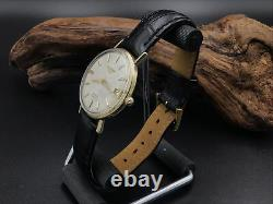 Longines Grand Prize automatic with Signed Crown And Strap. Just Serviced