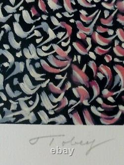 MARK TOBEY Grand Parade HAND SIGNED Etching Abstract expressionism USA