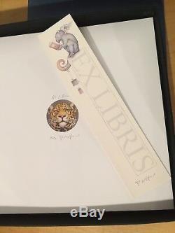 MICHAEL PARKES Deluxe Book Edition Ex Libris Stone Lithograph with COA