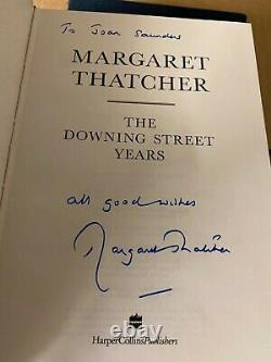 Margaret Thatcher signed The Downing Street years Deluxe edition in original sle
