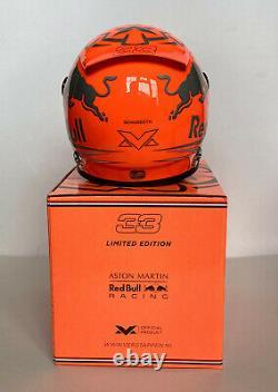 Max Verstappen SIGNED 12 scale helmet, 2019 Spa F1 Grand Prix special MIB + COA