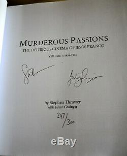 Murderous Passions Jesus Franco Stephen Thrower Signed Deluxe Ed 1/300 7 Vinyl