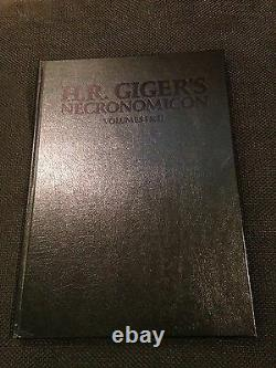 Necronomicon 1 & 2 H R Giger Deluxe Leather 181/666 Signed Litho almost unread