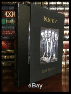 Night SIGNED by ELIE WIESEL Easton Press Leather Bound Deluxe Limited #818/850